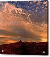 Sunset Over The Moab Rim 2 Acrylic Print