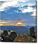 Sunset Over The Mountain Range Acrylic Print