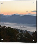 Sunset Over The Mountaintops Acrylic Print