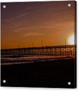 Sunset Over The Newport Beach Pier Acrylic Print