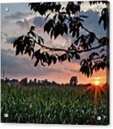 Sunset Over The Plains Acrylic Print