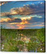 Sunset Over The River Of Grass Acrylic Print