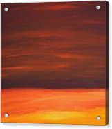 Sunset Over The Sandhills Acrylic Print