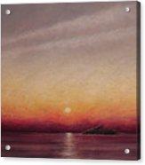 Sunset Over The Sunken Ship Acrylic Print
