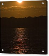 Sunset Over The Thames River Acrylic Print