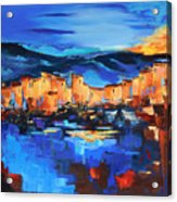Sunset Over The Village 2 By Elise Palmigiani Acrylic Print