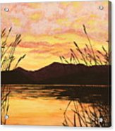 Sunset Over The Water Acrylic Print