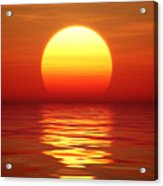 Sunset Over Tranqual Water Acrylic Print