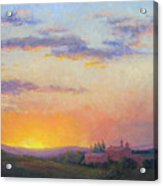 Sunset Over Tuscany Acrylic Print