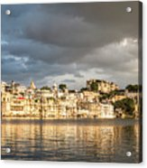 Sunset Over Udaipur Acrylic Print
