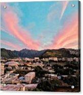 Sunset Over Uh Manoa Acrylic Print