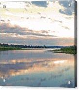 Sunset Over Union Bay Tall Panorama Acrylic Print