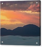 Sunset Over White Sands Acrylic Print