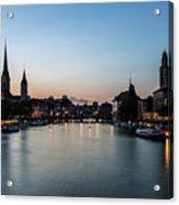 Sunset Over Zurich Acrylic Print