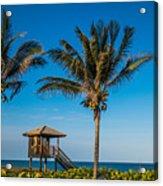 Sunset Palms Delray Beach Florida Acrylic Print