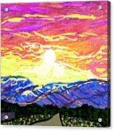 Sunset Pearblossom Highway Acrylic Print