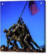 Sunset Photo At The Iwo Jima Monument Acrylic Print