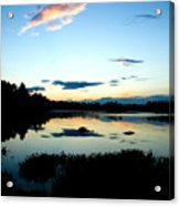Sunset Pond Acrylic Print