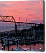 Sunset Port Acrylic Print