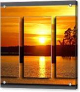 Sunset Poster Acrylic Print