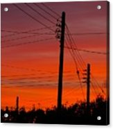 Sunset Power Acrylic Print