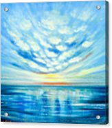Sunset Quest Blue Acrylic Print