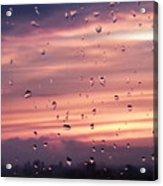Sunset Raindrops Acrylic Print