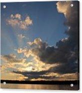 Sunset Rays On The Shore Acrylic Print