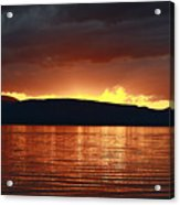 Sunset Red Acrylic Print