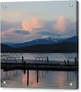 Sunset Reflecting Off Priest Lake Acrylic Print