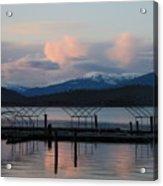 Sunset Reflecting Off Priest Lake Acrylic Print
