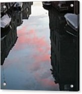 Sunset Reflections In Venice Acrylic Print