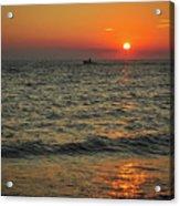 Sunset Ride Cape May Point Nj Acrylic Print