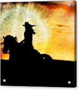 Sunset Rider Acrylic Print