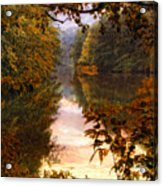 Sunset River View Acrylic Print