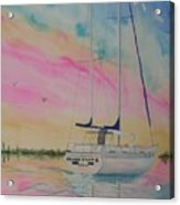 Sunset Sail 3 Acrylic Print