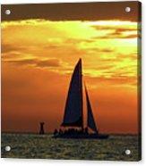Sunset Sail Away Acrylic Print