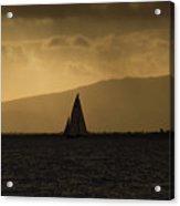 Sunset Sail Horizontal Acrylic Print