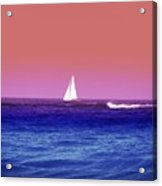 Sunset Sailboat Acrylic Print