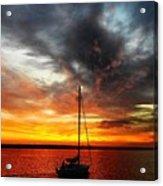 Sunset Sailboat Acrylic Print