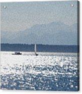 Sunset Sailboats  Acrylic Print