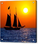 Sunset Sailing In Key West Florida Acrylic Print