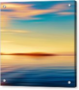 Sunset Seascape Island Acrylic Print