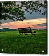 Sunset Seating Acrylic Print