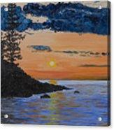 Sunset Series 1 Isle Royale Lake Superior Acrylic Print