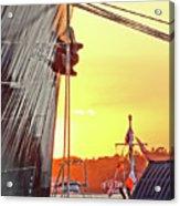 Sunset Ship Acrylic Print