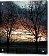 Sunset Silhouettes Acrylic Print