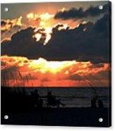 Sunset Silhouettes Acrylic Print