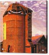 Sunset Silo Acrylic Print