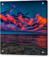Sunset Sky At East Point Acrylic Print